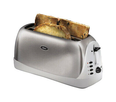 Oster Toaster 4 Slice Long Slot Brushed Stainless Steel