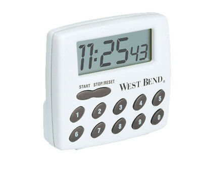 West Bend Timer 2-Function White With Red Buttons 100 Hr.