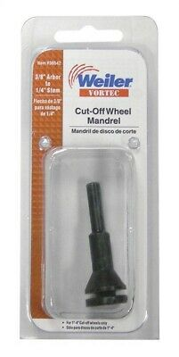 "Weiler Cut-Off Wheel Mandrel 3/8 "" Arbor Pack of 5"