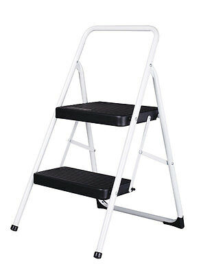 "Cosco Folding Two Step Stool 200 Lb. Capacity 17"" Gray Pack of 4"