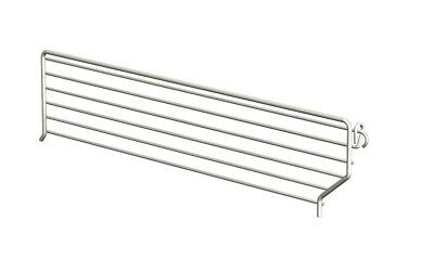 Lozier Wire Bin Divider 3 In. X 22 In. Chrome Finish Pack of 20