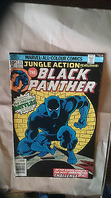 Marvel Comic Jungle action feat Black Panther #23 September 1976 FN+ first print