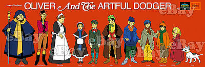 NEW!! EXTRA LARGE! OLIVER & ARTFUL DODGER Panoramic Photo HANNA BARBERA Studios