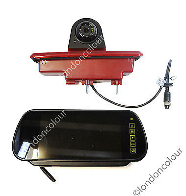 Renault Trafic Vivaro Brake Light Rear View Reverse Camera 7 inch  Monitor