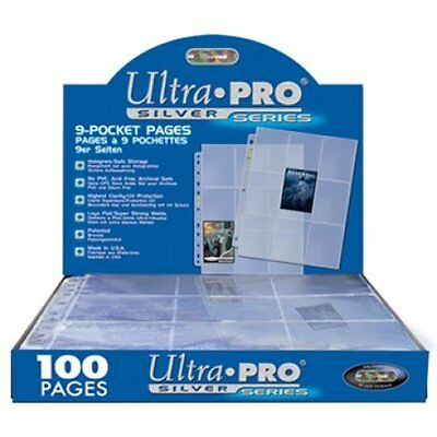 200 Ultra PRO Silver 9-Pocket Gaming/Trading Card Album Pages/Binder Sheets