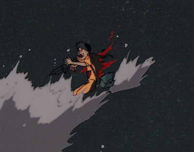 Akira Anime Cel Background Animation Art Terrorist inside of Sewer Otomo アキラ
