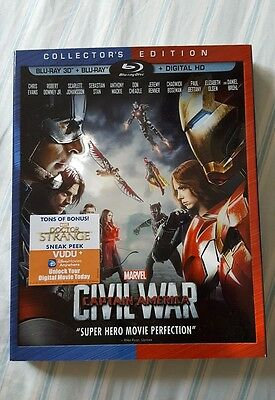 Marvel Captain America Civil War Bluray Collector's 3D Slipcover Only No Movie
