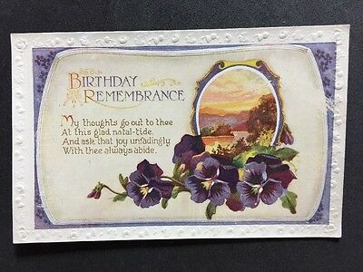 Vintage Postcard: Birthday Greetings Card: AA103: A & H Glossy Series