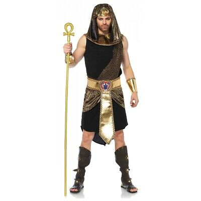 King Tut Costume Adult Egyptian Pharoah God Halloween Fancy Dress