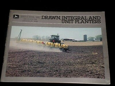 JOHN DEERE 1984 Drawn, Integral and Unit Planters Catalog, Brochure, Pamphlet
