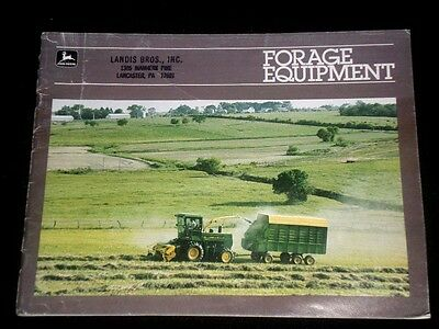 JOHN DEERE 1986 Forage Equipment Catalog, Brochure, Pamphlet