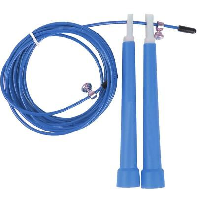 Skipping Rope Wire Jumping Speed Exercise Fitness Aerobic Workout Gym Blue