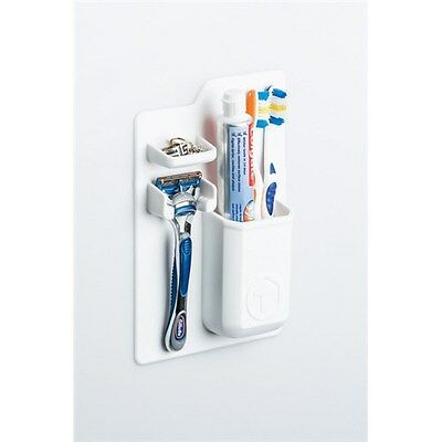 New Tooletries The Mighty Toothbrush Holder White