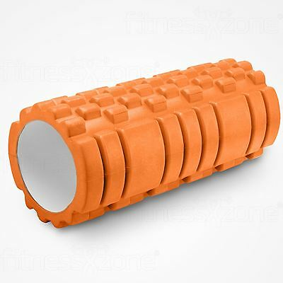 Grid Foam Roller Trigger Point Gym Sports Massage Physio Yoga Roller 33cm Orange
