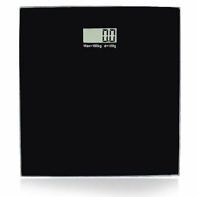 Body Weight Weighing Square Scale Bathroom Digital Electronic LCD Glass 180kg