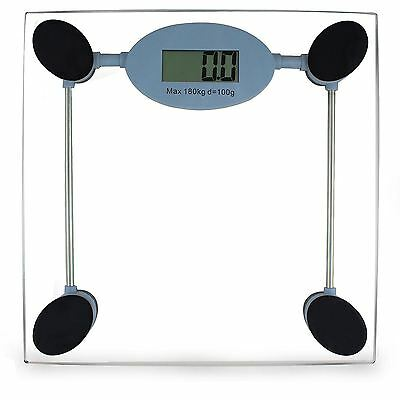 Body Weight Weighing Square Transparent Scale Digital Electronic LCD Glass 180kg