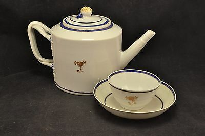Antique 18th Century Chinese Export Tea Pot & Cup    ND2611