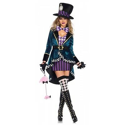 Mad Hatter Costume Adult Halloween Fancy Dress
