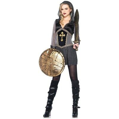 Joan of Arc Costume Adult Female Medieval Knight Halloween Fancy Dress