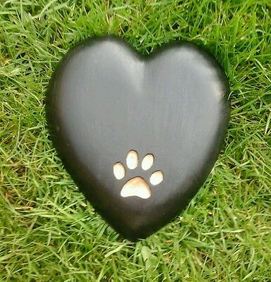 Extra large Pet Memorial/headstone/stone/grave marker/memorial heart silver r