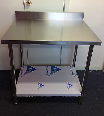 New Stainless Steel Kitchen Bench with splash back 1500x700x900