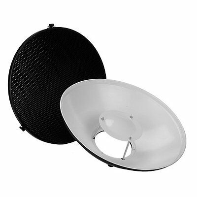 "Fotodiox Pro Beauty Dish 16"" Kit with Honeycomb Grid and Speedring for Elinchrom"