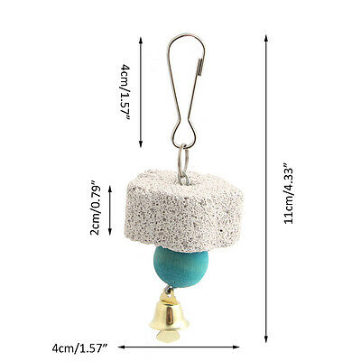Pet Birds Parrot Mouth Grinding Stone Molars Stone Hanging String Chewing Toy