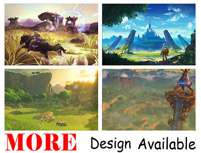 """Legend of Zelda Breath Wild Link 36"""" x 24"""" Large Wall Poster Print Anime NEW #3"""