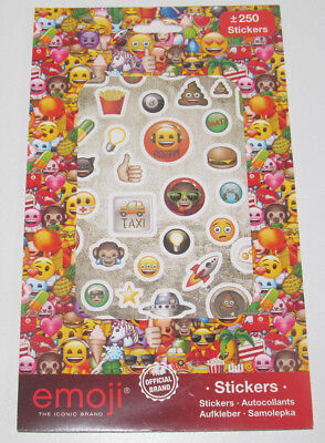 Set Carnet x250 Stickers Autocollants Emoji NEUF