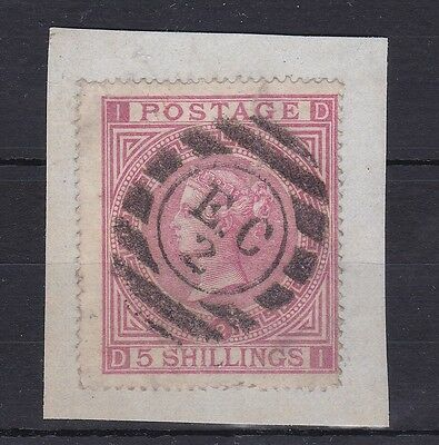 BD339) Great Britain 1874 5/- Rose, plate 2, SG 127 On piece