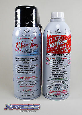 SeaFoam Combo SF16 Auto Marine Motor Treatment/SS14 Top Engine Cleaner And Lube