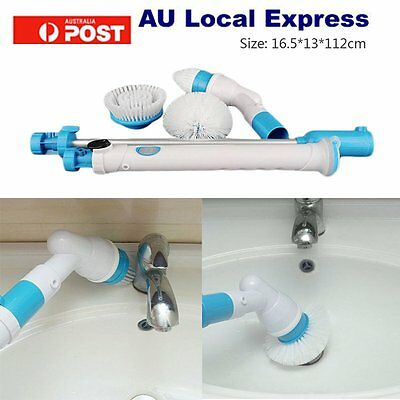 Turbo Scrub Spin Cleaning Brush Mop Scrubber Bathtub Tiles Floor High Power Home