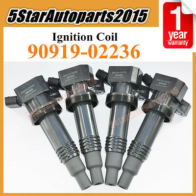 Set 4 New Ignition Coil For 1998-2005 Toyota Altezza Gita SXE10 3SGE 90919-02236