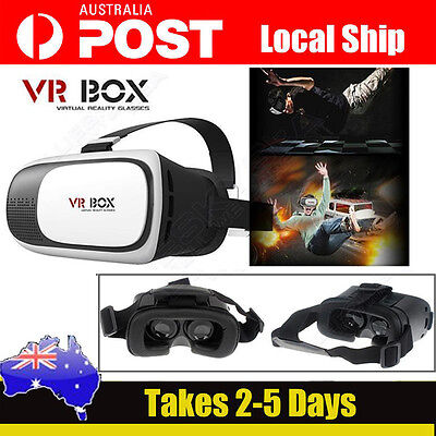 AU!3nd 3D Virtual Reality VR Box Glasses Headset Helmet for Universal Cell Phone
