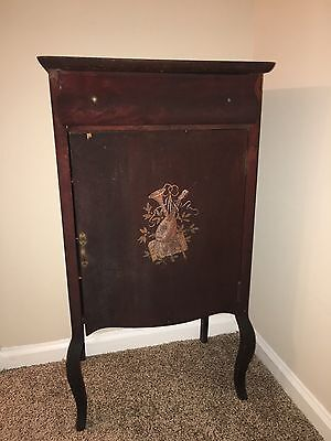 Antique Early 1900's Victorian Sheet Music Cabinet