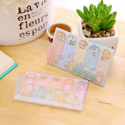 Cartoon Animal Cat PVC Case Self-Adhesive Memo Pad Sticky Note Page Marker Flag