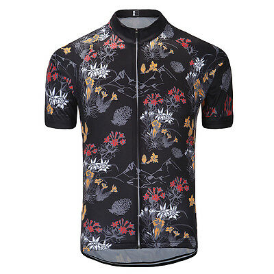 Mens Cycling Jersey MTB Bike Short Sleeve Sports Clothing Quick Dry Breathable