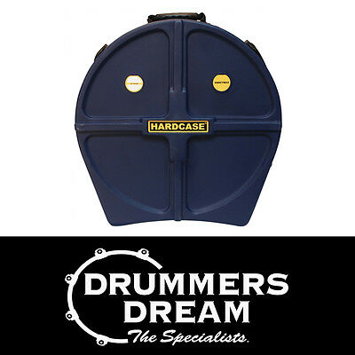 "HARDCASE 24"" Cymbal Case w/Wheels & Retractable Pull Handle RRP $319 Dark Blue"