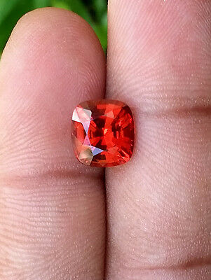 Superb Reddish Orange Spessartite Garnet /3.91 Carats/ VVS Clean / Top Luster