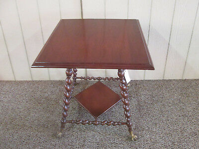 56761   Antique Victorian Lamp Table Stand
