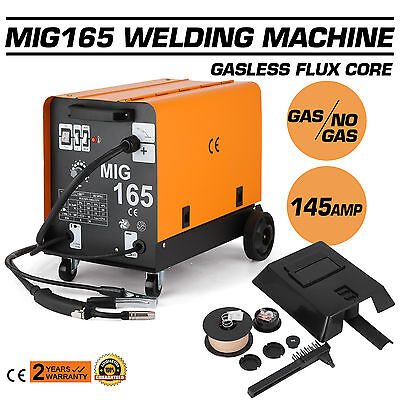2017 Portable 145A MIG Gasless Welder Welding Machine Tool Plug 80A