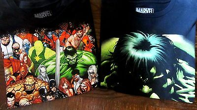 Lot Of 2 Marvel Comics T-Shirts--Men's Large--Euc--100% Cotton