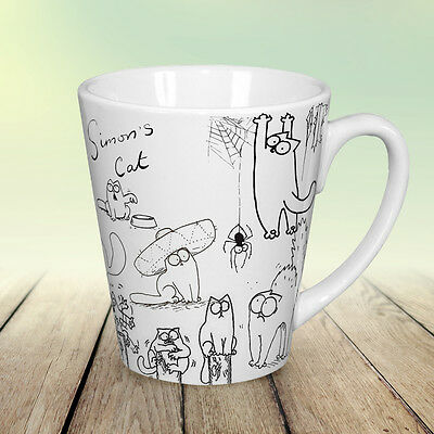 Simons cat funny coffee Latte mug 12 oz Crazy Cat Lady gift Lovers Cup
