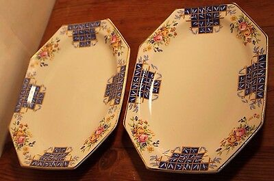 2x Royal Staffordshire, A.J Wilkinson Plates. Each 20cm Long