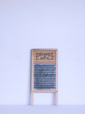 BUSY BEE No. 16 cottage shabby chic ANTIQUE boho primitive brutalist WASH BOARD