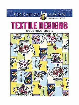 Creative Haven Textile Designs Coloring Book Adult Free Shipping