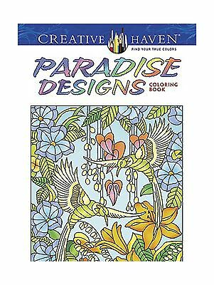 Creative Haven Paradise Designs Coloring Book Adult Free Shipping