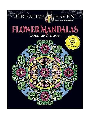 Creative Haven Flower Mandalas Coloring Book Stunning Designs Free Shipping