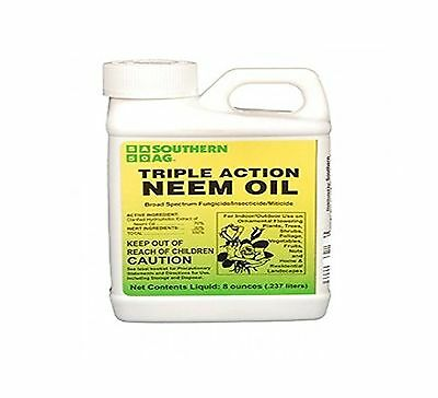 Southern AG Triple Action Neem Oil 8 oz Free Shipping