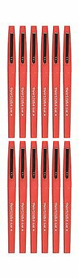 Paper Mate Flair Felt Tip Pens Medium Point Red 12-Count 12-Pack Free Shipping